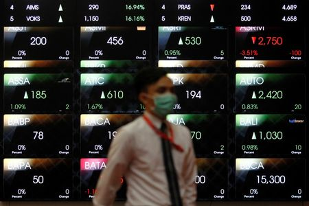 Indonesia shares greater at close of trade; IDX Composite Index up 1.11%